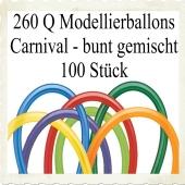 Modellierballons Qualatex 260Q Carnival Mix Luftballons zum Modellieren