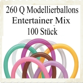 Modellierballons Qualatex 260Q Entertainer Mix Luftballons zum Modellieren