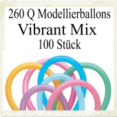 Modellierballons Qualatex 260Q Vibrant Mix Luftballons zum Modellieren