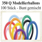 Modellierballons, 350 Q, Qualatex, 100 Stück, bunt gemischt