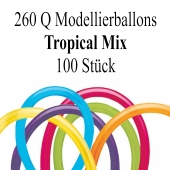 Modellierballons Qualatex 260Q Tropical Mix Luftballons zum Modellieren