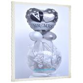 Geschenkballon zur Hochzeit mit Mr & Mrs Herzballon aus Folie