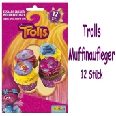 Cupcakedekoration Trolls Muffinaufleger zum Kindergeburtstag