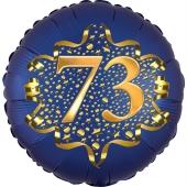 Satin Navy Blue Zahl 73 Luftballon aus Folie zum 73. Geburtstag, 45 cm, Satin Luxe, heliumgefüllt