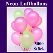 Neon-Luftballons, 20 cm, 5000 Stück