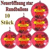 Neueröffnung! Star, 10 Stück rote Rundballons zur Befüllung mit Luft, zu Werbeaktionen Geschäftseröffnung