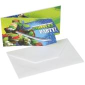 Ninja Turtles Einladungskarten zum Kindergeburtstag