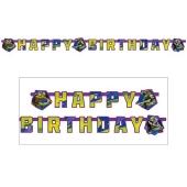 Ninja Turtles Geburtstagsbanner zum Kindergeburstag