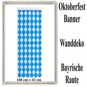 Oktoberfest Banner, Wanddekoration 160 cm x 42 cm, schwer entflammbar