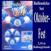 Oktoberfest Dekoration, Ballongirlande im Selbstbau-Set