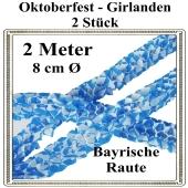 Oktoberfest Girlanden, 2 Stück, 2 Meter x 8 cm, schwer entflammbar