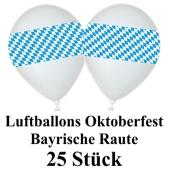 Oktoberfest Luftballons bayrische Raute 25 Stueck