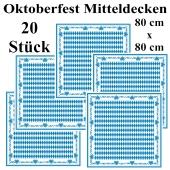 Oktoberfest Mitteldecken, stoffähnlich, Airlaid, 80 cm x 80 cm, 20 Stück