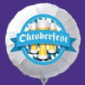 Luftballon Oktoberfest, Rundballon aus Folie. Mit Helium / Ballongas