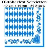 Oktoberfest Servietten, 40 cm x 40 cm, 50 Stück