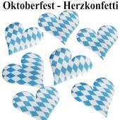 Oktoberfest - Bayrische Wochen- Tischdekoration, Herzkonfetti, Bayrische Rauten