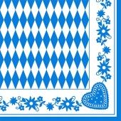 Oktoberfest-Tissue-Dekor-Serviette-Bayrisches-Muster-50-Stueck