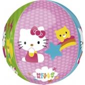 Hello Kitty  Orbz, großer  Luftballon aus Folie mit Helium