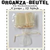 Organza-Beutel Creme für Hochzeitsmandeln