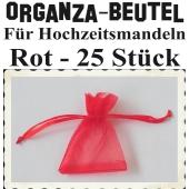 Organza-Beutel Rot für Hochzeitsmandeln