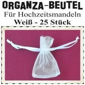 Organza-Beutel Weiß für Hochzeitsmandeln