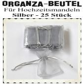 Organza-Beutel Silber für Hochzeitsmandeln