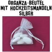 Hochzeitsmandeln Organza-Beutel Silber
