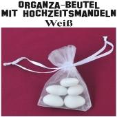 Hochzeitsmandeln Organza-Beutel Weiß