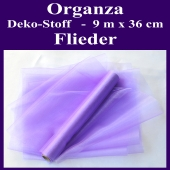 Organza Deko-Stoff, Flieder, 9 Meter x 36 cm