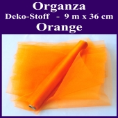Organza Deko-Stoff, Orange, 9 Meter x 36 cm