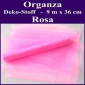 Organza Deko-Stoff, Rosa