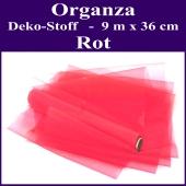 Organza Deko-Stoff, Rot