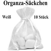 Organza-Beutel Weiß für Taufmandeln oder Hochzeitsmandeln
