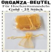 Organza-Beutel Gold für Hochzeitsmandeln