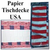 Papier Tischdecke USA