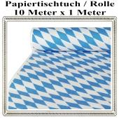 Papiertischtuch, Bayrisches Muster, 1 Rolle, 10 Meter x 1 Meter