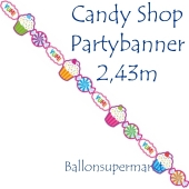 Candy Bar Partybanner zum Geburtstag