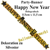 Dekoration Silvester, holografisches Buchstabengirlande Happy New Year