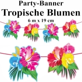 Party-Banner tropische Blumen
