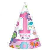 Partyhuetchen Sweet Birthday Girl zum 1. Geburtstag Maedchen