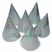 Partyhütchen, holografisch, silber