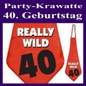 Partykrawatte zum 40. Geburtstag
