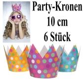 Party-Kronen, Partyhütchen, 6 Stück im Sortiment