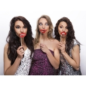 Party Props, Lippen, Foto Requisiten