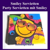 Party Servietten mit Smiley