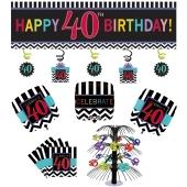 Dekorations-Set zum 40. Geburtstag, Celebrate