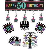 Dekorations-Set zum 50. Geburtstag, Celebrate