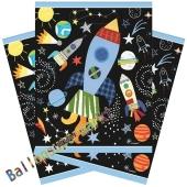 Weltraum Partytüten, 8 Stück