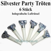 Party Tröten, holografisch, silber