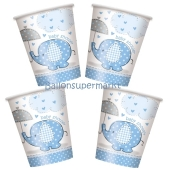 Baby Shower Partybecher, hellblau